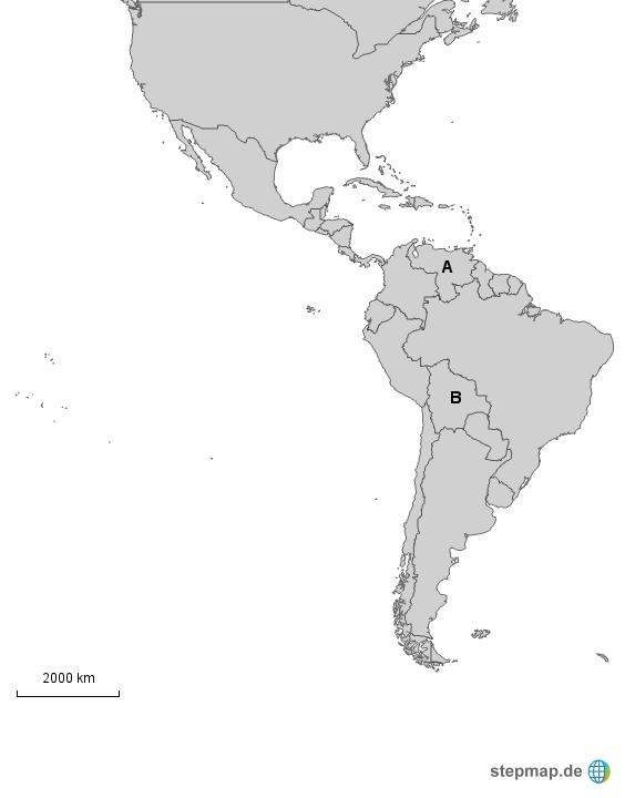 Karte Südamerika Und Nordamerika.25 Schon Karte Von Lateinamerika