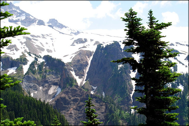 Shoulder of Mt. Hood viewed from the McNeil Point trail (zoomed in)