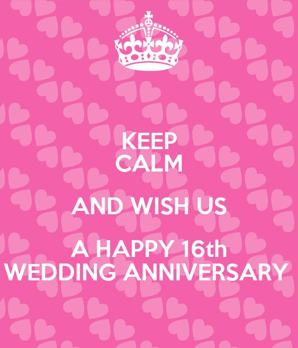 Happy 16th Wedding Anniversary Images