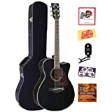 Yamaha FSX720SC Small Body Cutaway Acoustic-Electric Guitar Bundle with Hardshell Case, Tuner, Instructional DVD...