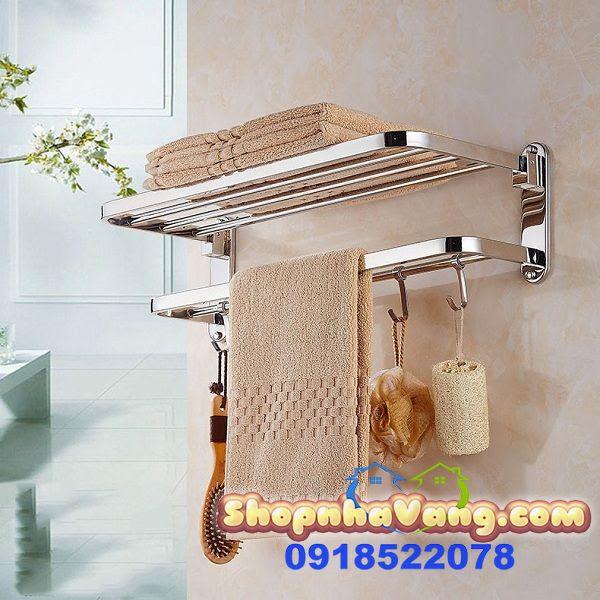 Giá Inox Dùng Để Treo Khăn Nhà Tắm NV271