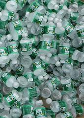 Lots of bottled water by Brett Weinstein