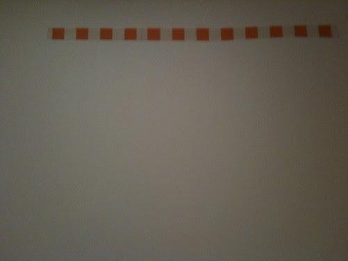 Daniel Buren strip, conceptual art show, MoMa