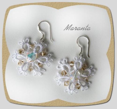 frywolitka biżuteria ślubna