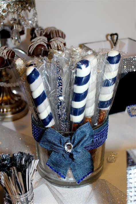 Chocolate Covered Pretzels   Denim & Diamonds Candy Table