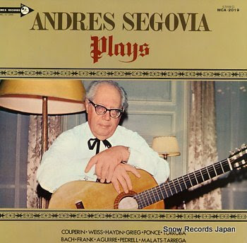 SEGOVIA, ANDRES plays