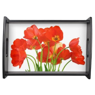Ravishing Red Tulips Serving Tray