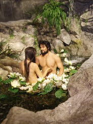 The Adam and Eve exhibit at the Creation Museum in