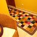 tapete quadradinhos  com lã de Arraiolos