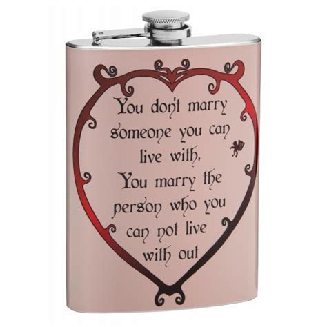 8oz Anniversary or Wedding Hip Flask with a Love Poem for