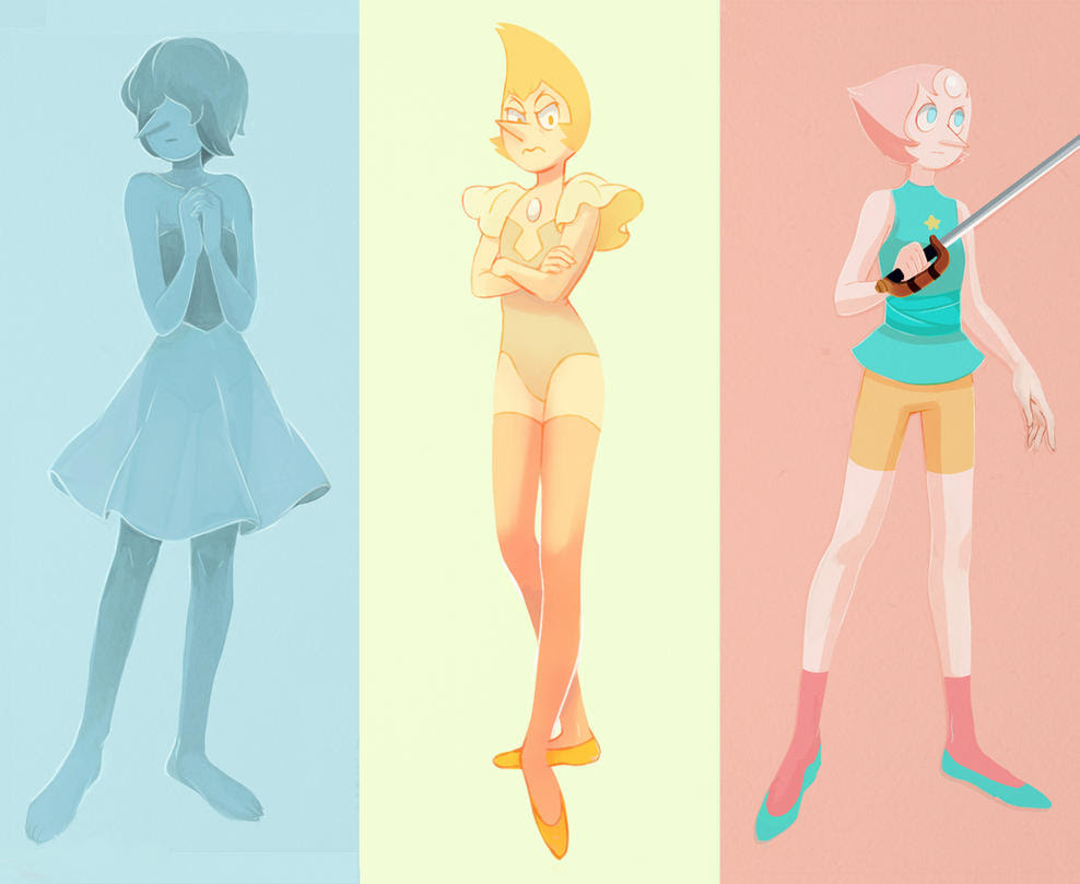 Pearl, Blue Pearl and Yellow Pearl