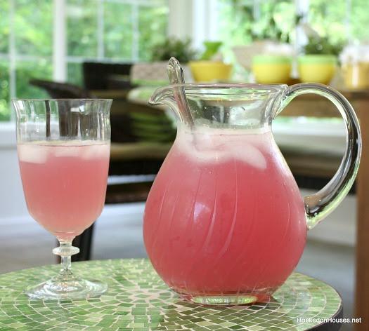 pink lemonade in the sunroom