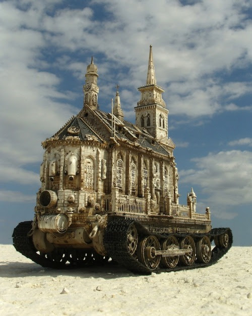 ChurchTanks by Kris Kuksi / posted by ianbrooks.me