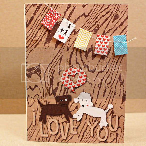 Puppy Love card, Credits: Puppy Love and Cut-Outs Everyday by Jenn Barrette