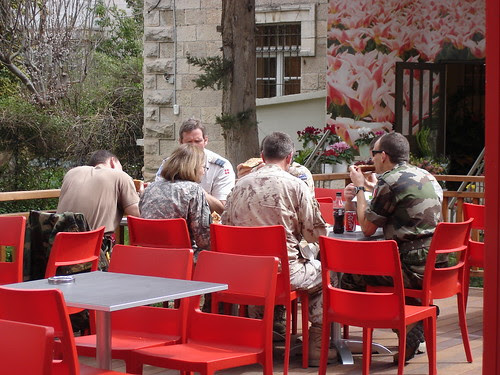 UN troops at pizza place 2