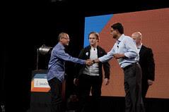 "Steven Chin, Mark Little, Jason Gartner and Hasan Rizvi, JavaOne 2011 San Francisco ""Java Strategey Keynote"""