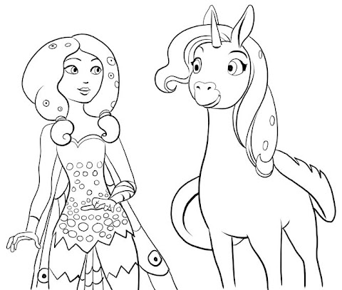 Get Inspired For Mia And Me Coloring Pages