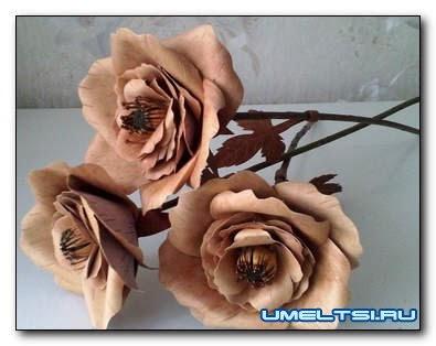 Как сделать розу из дерева (шпон)