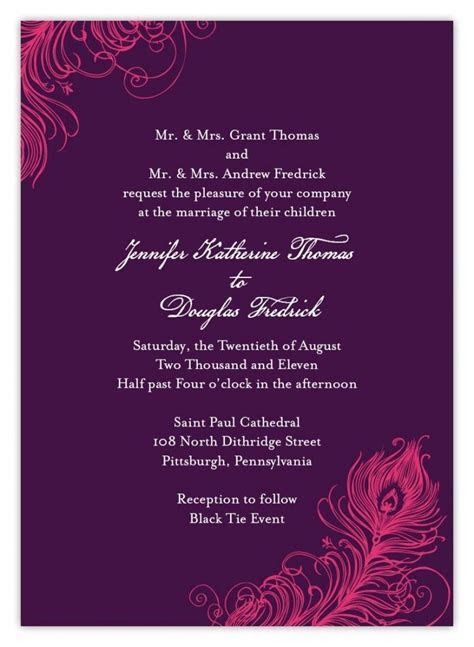 Indian wedding invitation wording template   Wedding