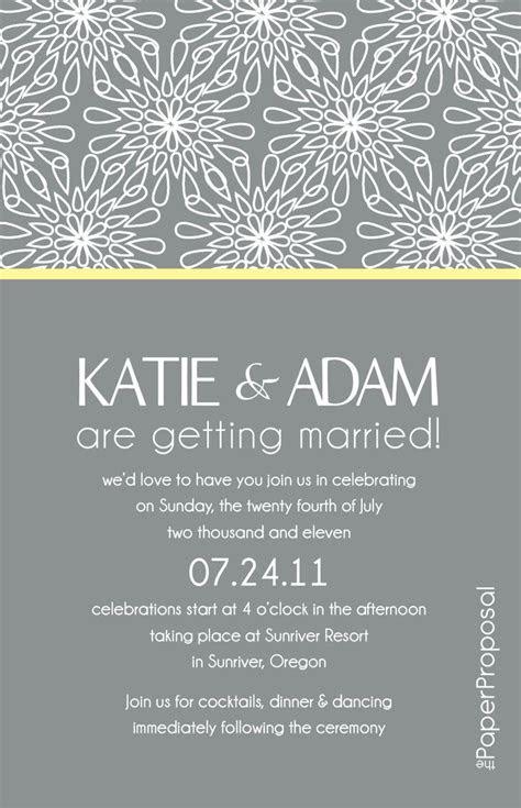 modern bloom wedding invitation