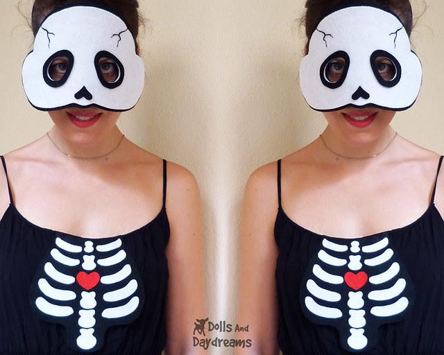 halloween skull mask pattern