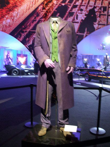 Heath Ledger's Joker outfit from THE DARK KNIGHT, on December 7, 2012.