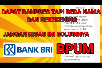 Bansos BPUM tidak sesuai nama dan nomor rekening