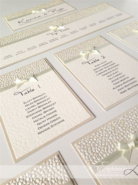 Ivory Wedding Stationery   Bespoke Design   DIY Table Plan