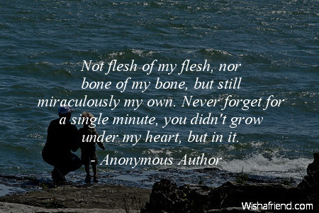 Anonymous Author Quote Not Flesh Of My Flesh Nor Bone Of My Bone