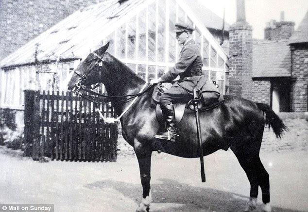 Horse power: Arthur Budgett, the inspiration for Morpurgo's Captain Nicholls, on his horse Jazz in 1920