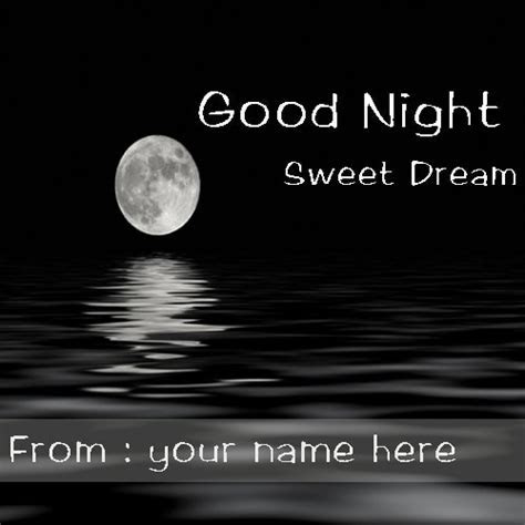 Good Night Greeting Cards With Name edit