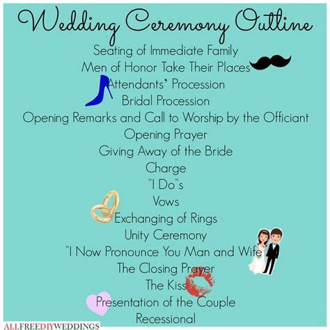 Wedding Ceremony Outline   let's get hitched.   Wedding