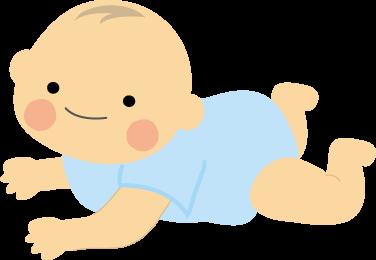 赤ちゃんのイラストbaby無料イラストフリー素材 はいはい