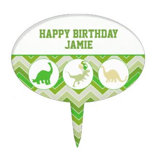 Dinosaur Birthday Cake Topper