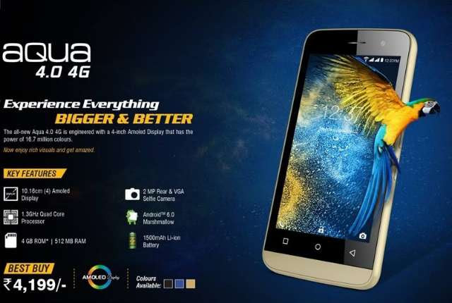 Intex Launches Aqua 4.0 4G and Aqua Young 4G with VoLTE, Quad-Core SoCs