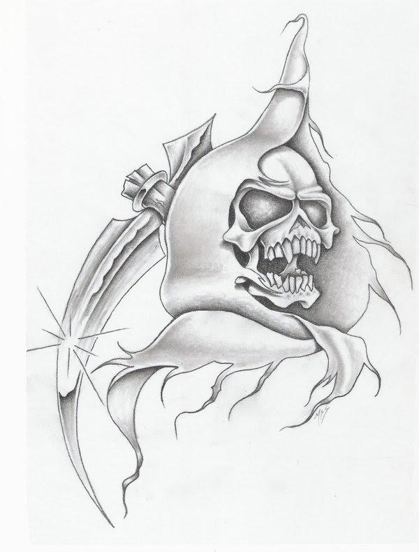 Grim Reaper Drawing Beautiful Image Drawing Skill