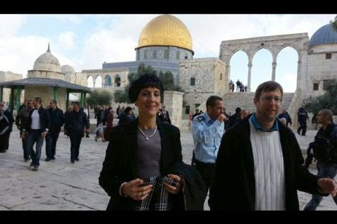 MK Shuli Moalem and Uri Bank on the Temple Mount
