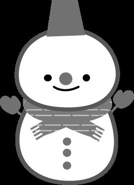 冬のイラスト雪だるま 無料イラストフリー素材
