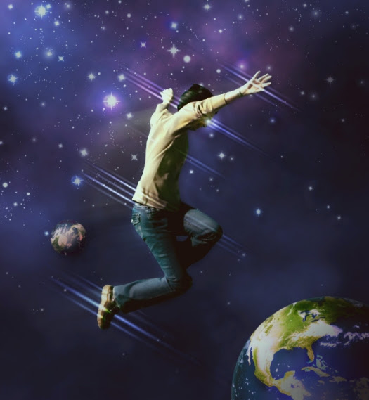 The Making of 'Space Jumper' Photo Manipulation