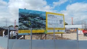 Trabajos de construcción en la Villa Olímpica.