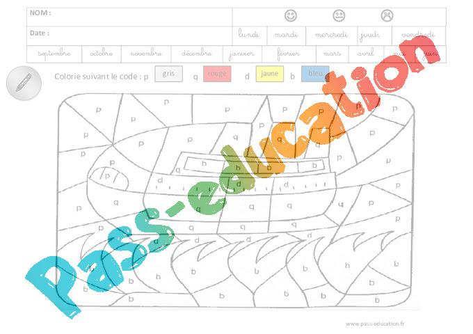 Coloriage Magique Lecture Maternelle Grande Section Gs