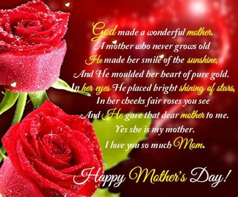 You Are A Wonderful Mother. Free Love You Mom eCards