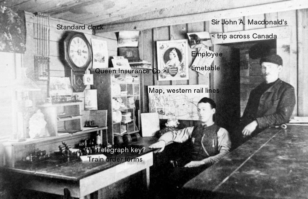 CPR station telegraph office         1887
