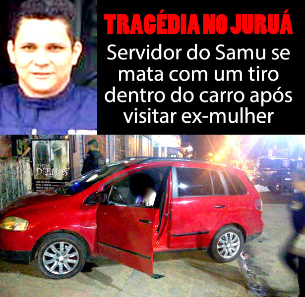 Servidor do Samu se mata com um tiro dentro do carro após visitar ex-mulher