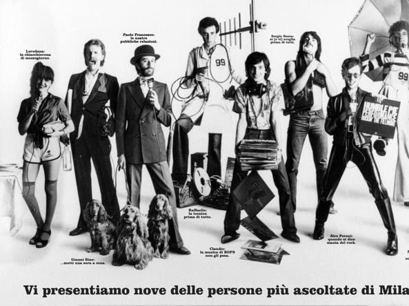 Uno dei primi manifesti pubblicitari di Radio 105