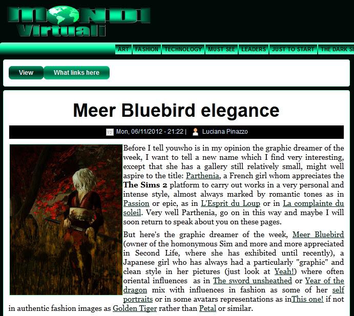 Meer Bluebird elegance