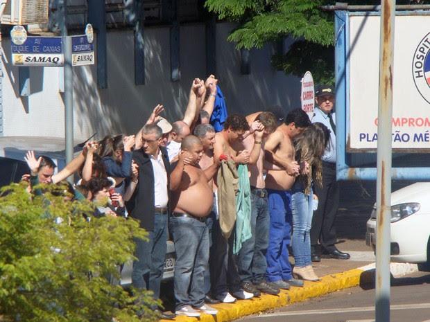 Assaltantes fizeram reféns em ataque a banco no RS (Foto: André Luiz Ferronato/Arquivo Pessoal)