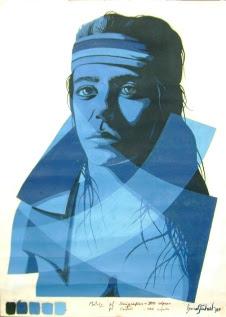 """Bruno Steinbach Silva. """"Retrato de Lala"""". Óleo / papel cançon, 66 x 48 cm, 1987, Camboinha , Cabedelo, Paraíba, Brasil. Acervo do Artista (Alaíde Maria Fernandes Fonsêca. Morreu em 2001, vítima de câncer de mama). Uma mulher linda, fascinante, brilhante... Fenomenal! Tão maravilhosa que Deus não teve paciência de esperar que envelhecesse ... e a levou, muito antes da hora!"""