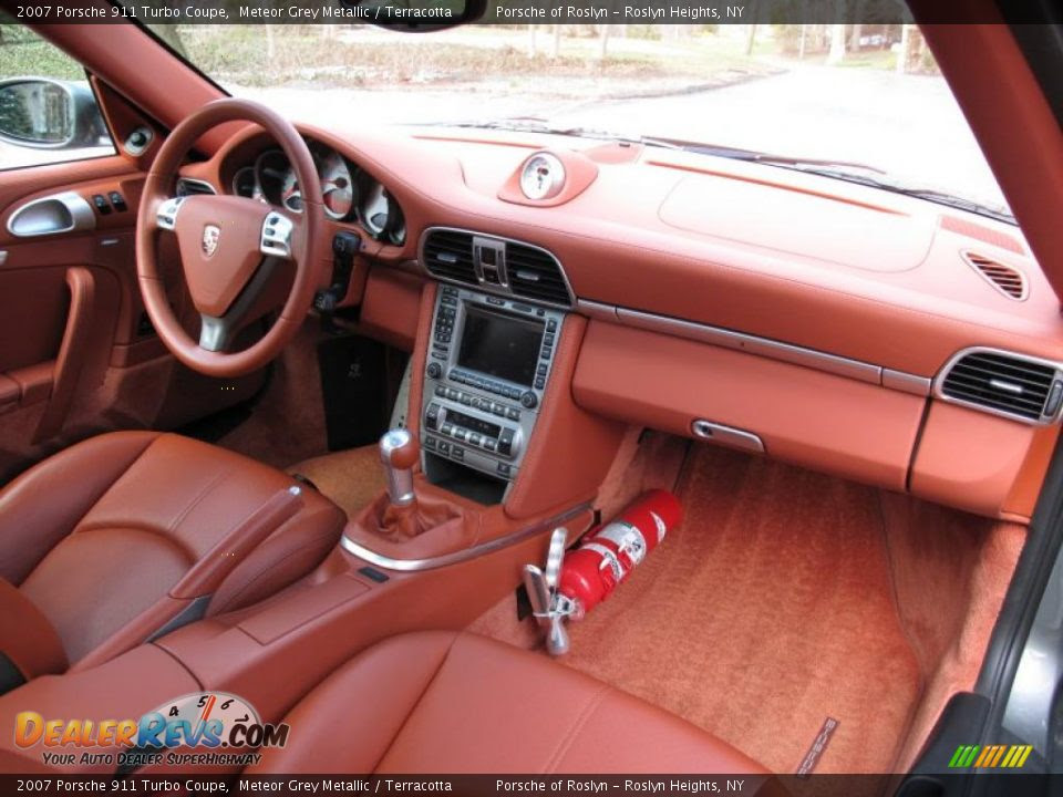 Terracotta Interior 2007 Porsche 911 Turbo Coupe Photo 15