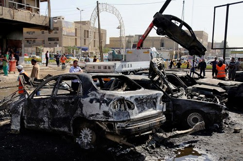 Damage from bomb blasts in Baghdad, Iraq. Since the United States withdrawal nearly two years ago the situation has continued to deteriorate. by Pan-African News Wire File Photos